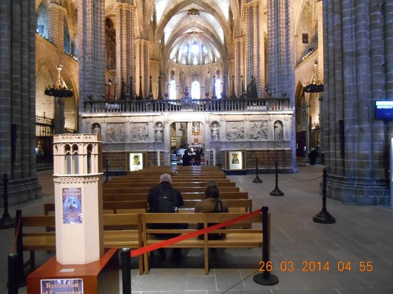 Barcelona Cathedral : an example of the ornate work