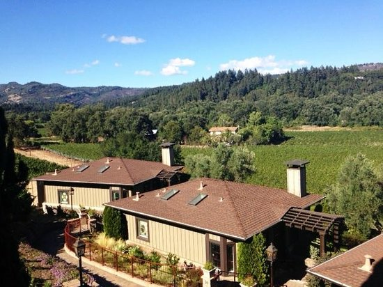 Wine Country Inn & Cottages : View from our balcony