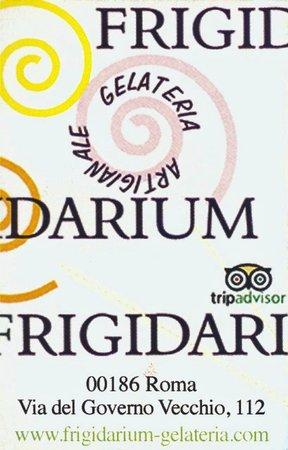 La Gelateria Frigidarium : carte