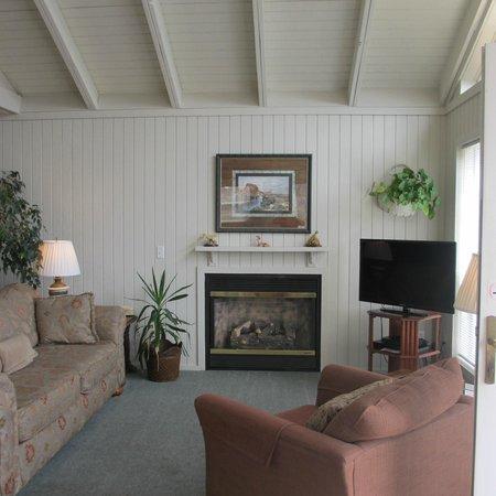 Beaver Lake Cottages: living room cottage 6