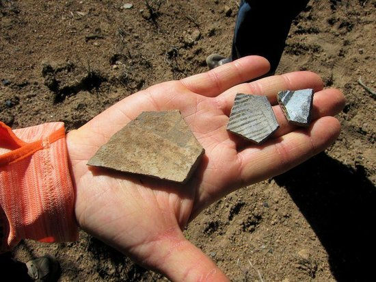 Outspire Hiking and Snowshoeing: Pottery found from early inhabitants