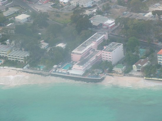 Butterfly Beach Hotel: From the air