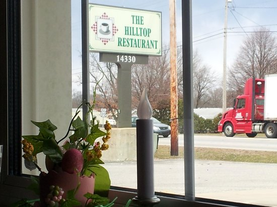 Hilltop Inn: view out the window from my table