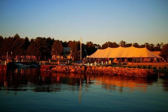 Bayview Resort & Harbor, Inc : view of wedding marquee and resort