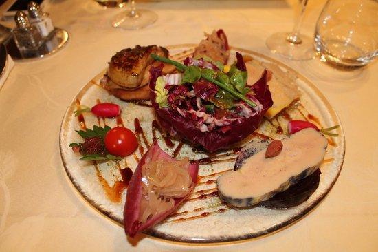 St hubert: 1ére entrée Trilogie de foie gras
