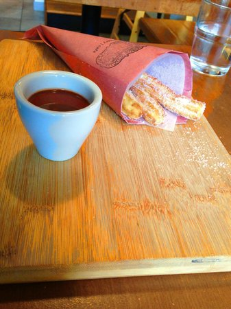Chorizo & Co.: Churros! and a warm chocolate dipping sauce