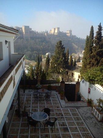 Apartamentos Montesclaros: Vue de la terrasse intermédiaire