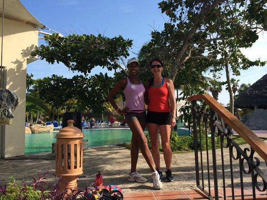 Royalton Hicacos Varadero Resort & Spa: Myself and Veronica, aerobic/zumba instructor