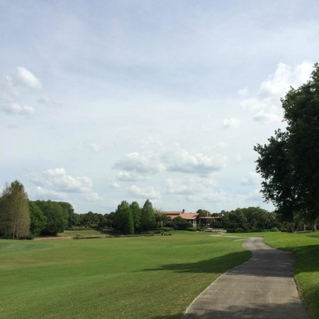 Villas of Grand Cypress : View of Cypress Walk from back of suite