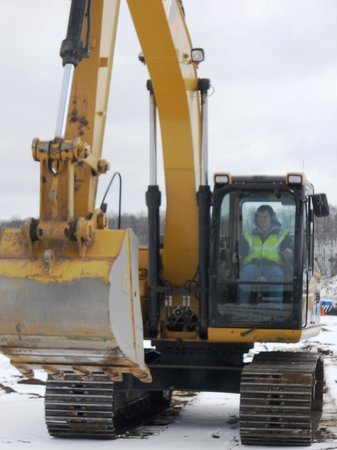 Extreme Sandbox: You get to operate a backhoe or they have other large equipment too