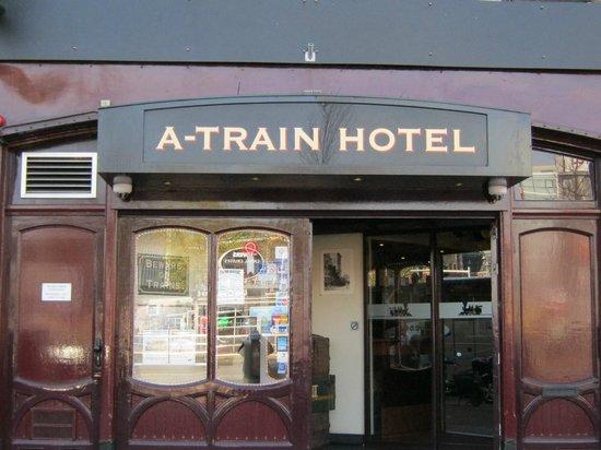 A-Train Hotel: front door