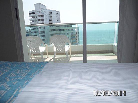 Hotel Dann Cartagena: vista desde la habitación al balcon