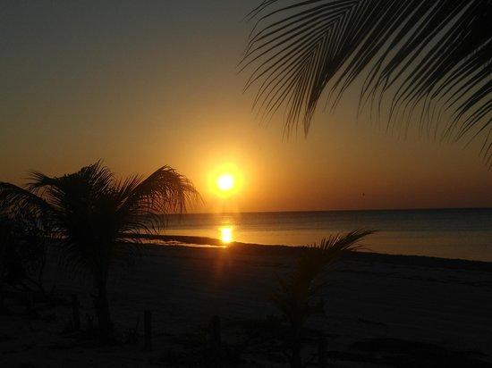 Holbox Suites: puesta del sol al frente del holtel