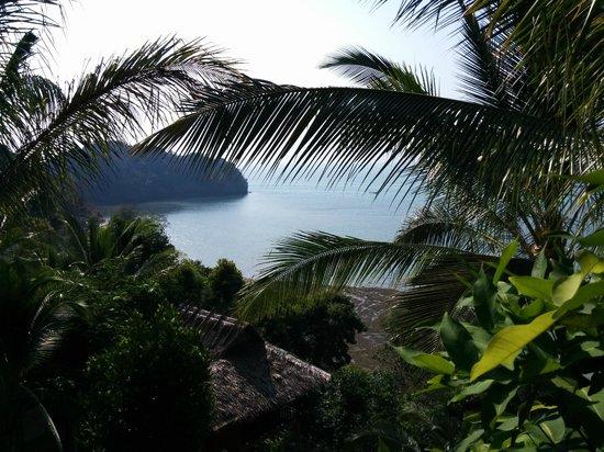 Railay Garden View Resort: Blick von der Bungalow-Terasse