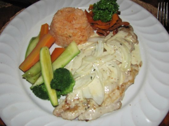 """Misiones De Kino: Sea Bass (house fish of the day) with """"the sauce""""!"""
