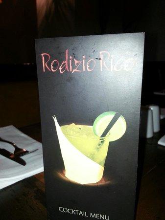 Rodizio Rico: Drinks menu.