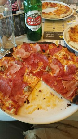 California Pizza Kitchen: Meat Cravers thin crust pizza