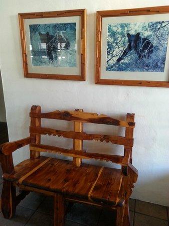 The Black Bear: Waiting area
