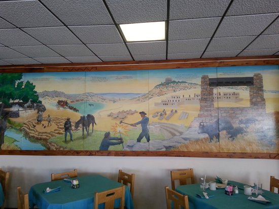 The Black Bear: Mural along entire inside wall