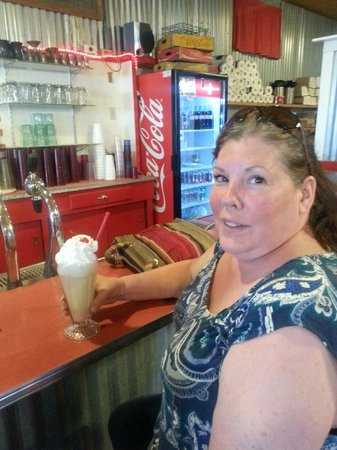 Fort Davis Drug Store: Delicious Vanilla Shake for Gayle