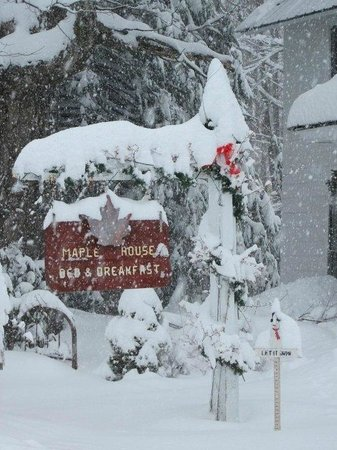 Maple House Bed & Breakfast: We've got your snow!!