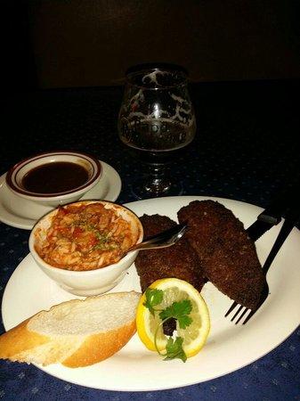 Cajun Cafe On the Bayou: Fried Cajun Meatloaf.