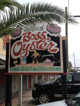 Boss Oyster: Sign along Water Street
