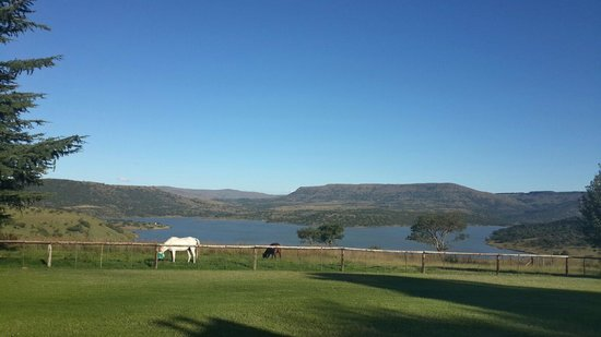 Blue Haze Country Lodge: View over the dam