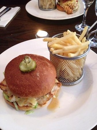 The Print Room: sweet and sour chicken burger