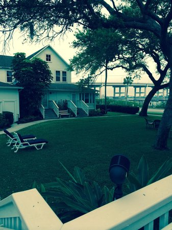 Night Swan Intracoastal Bed and Breakfast: Stretch out on the chairs under the oaks with an evening glass of wine