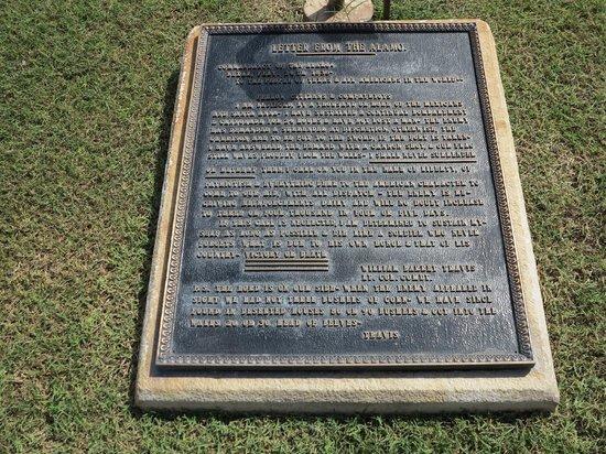 The Alamo: Plaque