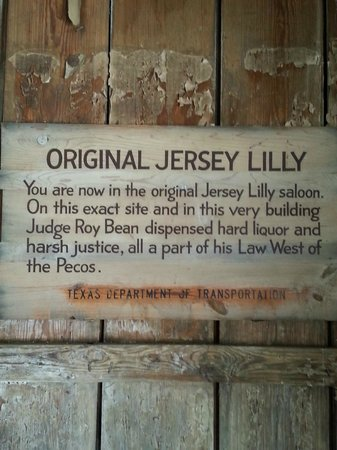 Judge Roy Bean Museum: Inside ORIGINAL Jersey Lily Saloon
