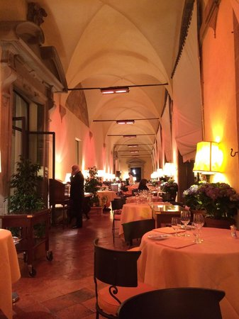 La Loggia Restaurant: The Logia Restaurant. The right side offers a stunning view into the Arno valley. In the back it