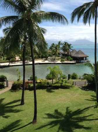InterContinental Tahiti Resort & Spa: View from room of another lagoon/bay open to ocean