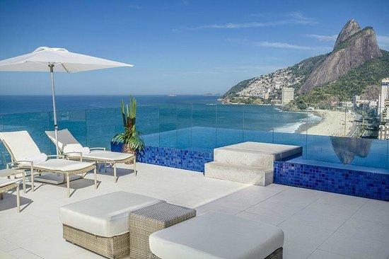 Praia Ipanema Hotel: Solarium View - Dois Irmãos Hills