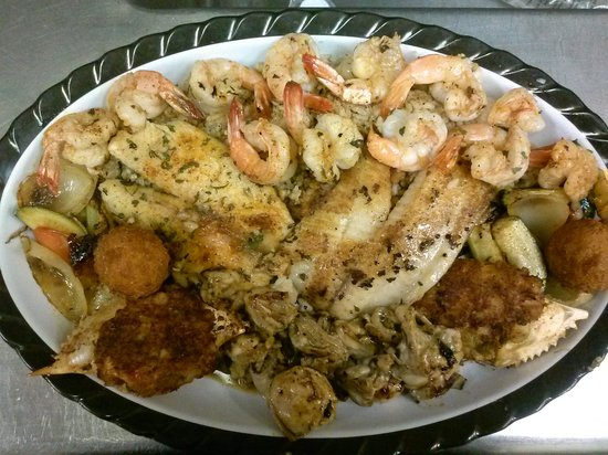 Dallas Seafood Co.: Grilled Captains Choice Delicious