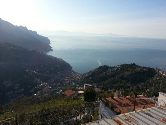 Ravello Rooms: View from the apartment balcony