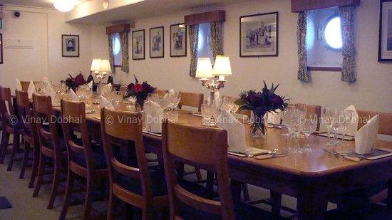 HMY Britannia: The dining hall