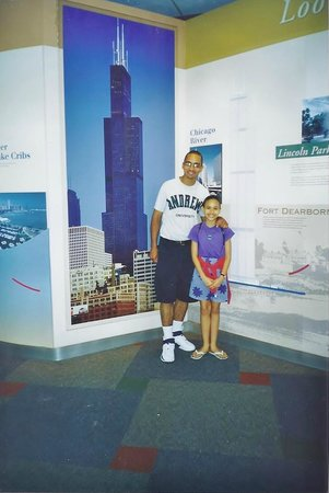Skydeck Chicago - Willis Tower : Our tourist Guide & my daughter :-)