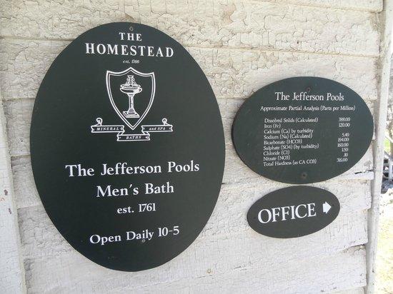 Jefferson Pools : Men's Pool Mineral Contents