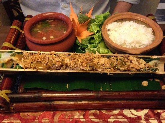 Essence Hanoi Hotel & Spa: Delicious bamboo beef.