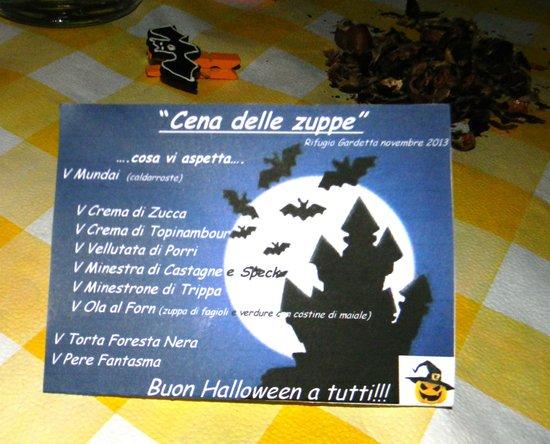 """Rifugio Gardetta Restaurant : Menù a tema per la Cena delle Zuppe"""""""