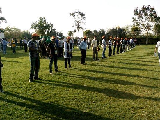 Radisson Blu Udaipur Palace Resort & Spa: Team building exercises