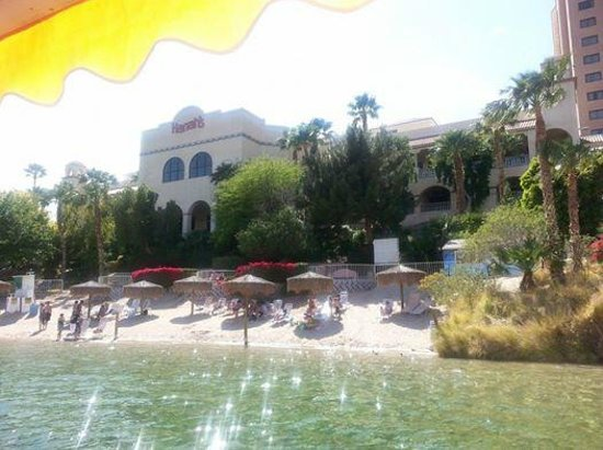 Harrah's Laughlin: the view from being out on the boat loading zone...love this beach area!!!!