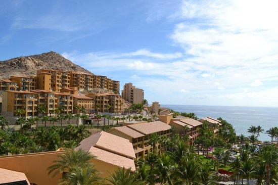 Grand Fiesta Americana Los Cabos All Inclusive Golf & Spa: Vista de la zona de Villas desde la recepción del hotel