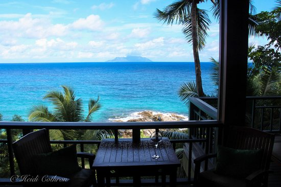 Hilton Seychelles Northolme Resort & Spa: view from villa 223, we moved from larger one due to construction noise