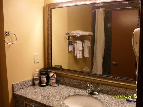 Best Western Saraland Hotel & Suites: Sink area