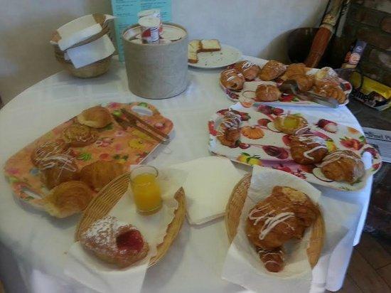 Hofsas House Hotel : This is their breakfast table!!!