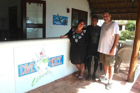 Dive House: Us with Javier, our Instructor