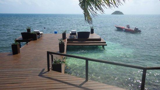 Deep Blue : From the restaurant deck
